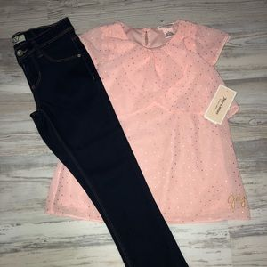 NWT Gorgeous juicy couture top & jeans size 6